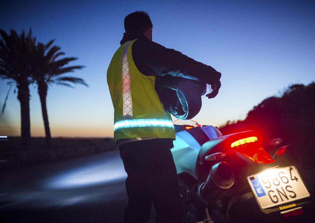 Motorcycle safety - reflective vest