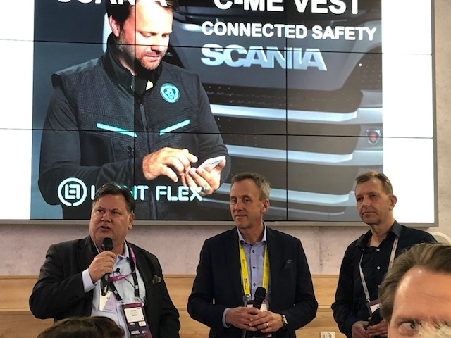 Jonas Svanholm, Director X-Lab Scania - Erik Tengedal, VP Sales Imagimob - Mårten Kull, Light Flex